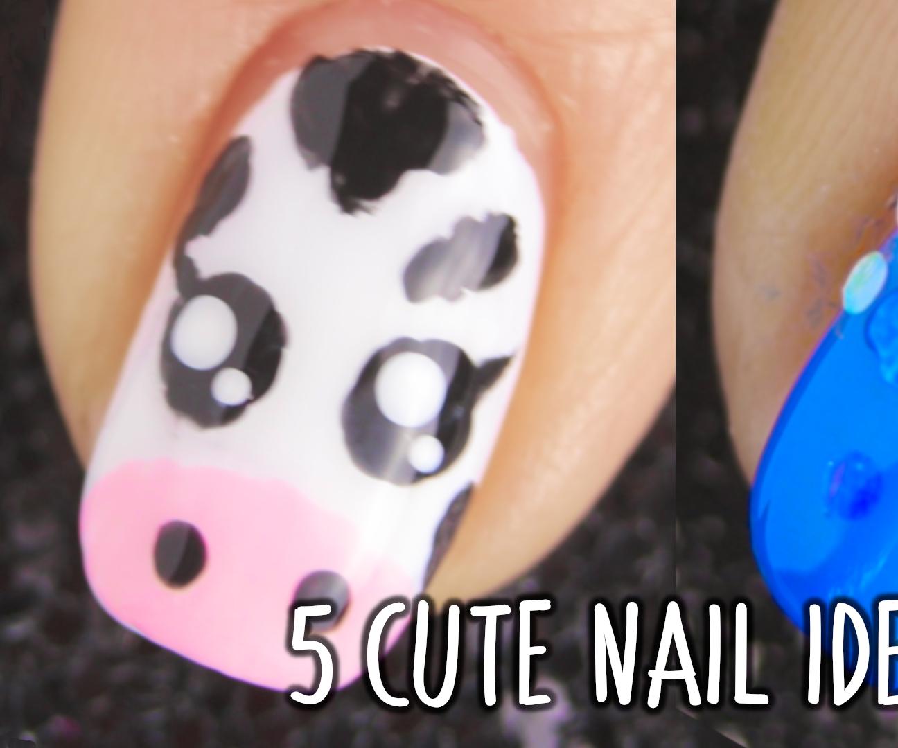 5 Simple and Cute Nail Art Design   Nail Art Ideas Compilation