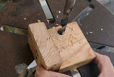 Horizontal Part - Marking & Drilling the Jig Drill Bits Hole