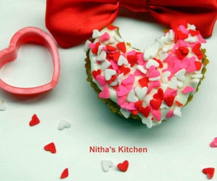 Eggless Valentine Cup Cakes