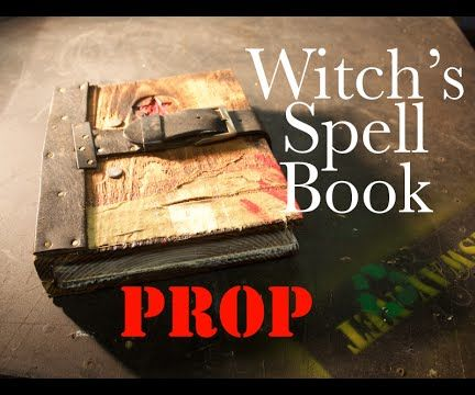 Make a Prop Witch's Spell Book From Scraps