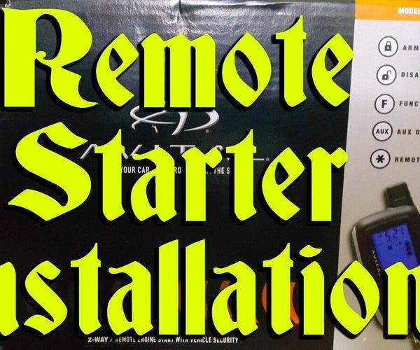 Car Remote Starter Installation!