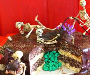 """""""Death by Chocolate"""" Skeleton Surprise Cake"""