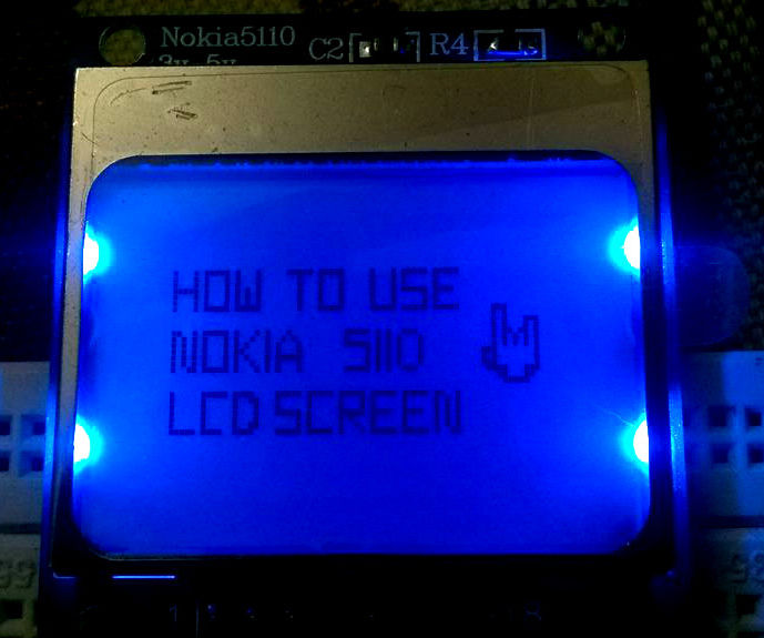 Getting started with NOKIA 5110 LCD screen using Arduino