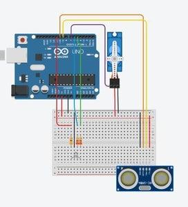 Making the Main Hand Washing Station (Step 3) - Connecting RGB LED, Distance Sensor and Servo
