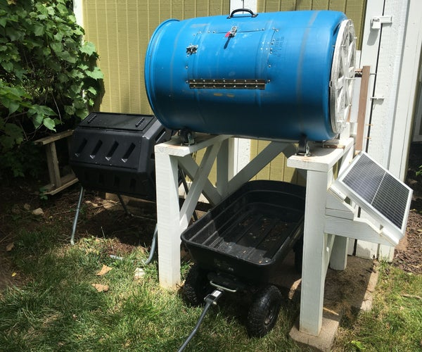 Solar Powered Compost Drum System