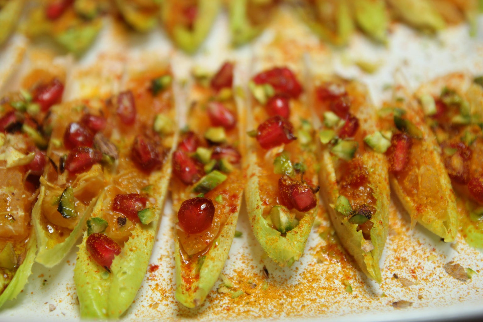 Belgian Endive Barges With Cargoes of Red Gold Tunisian Salad.