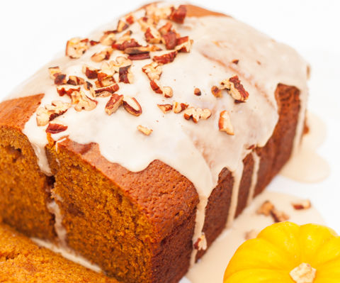 The Best, Most Moist Pumpkin Bread with Maple Glaze