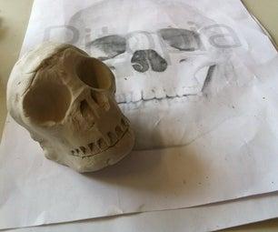 Easy Clay Modeling - Hidden Treasure Pirate Skull
