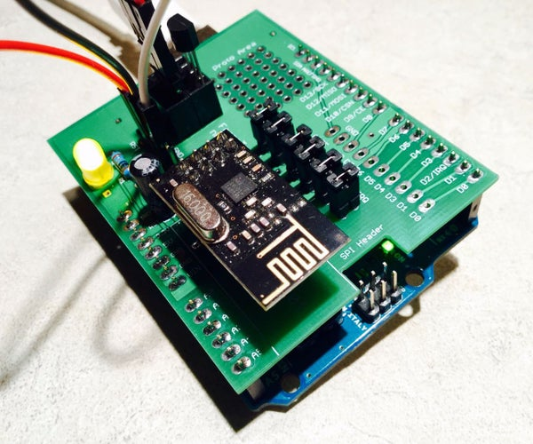 Building an Arduino Shield for the NRF24L01+ Transceiver