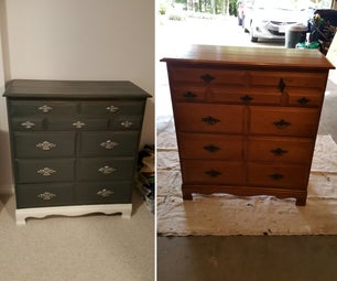 How to Refinish a Dresser (gray Stain)