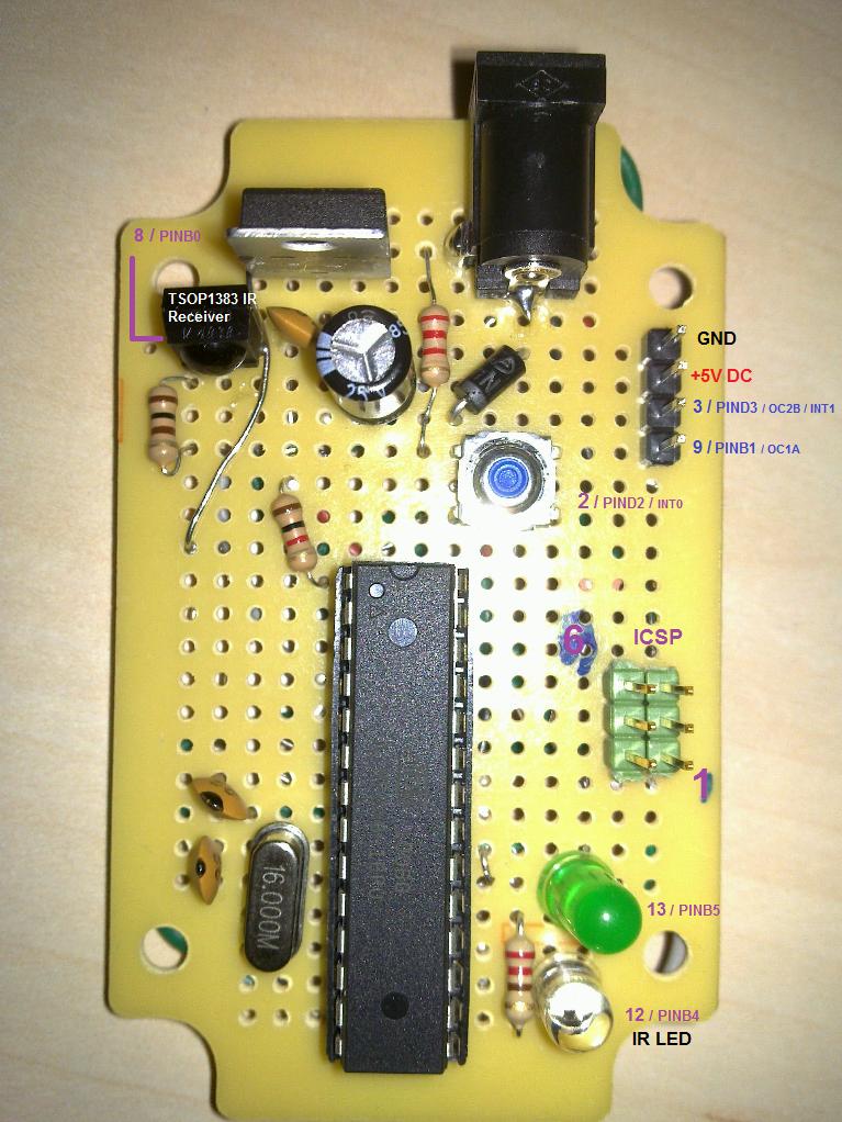 Adding ICSP header to your Arduino/AVR board