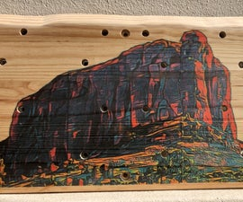 Inkjet Transfer of Rensburgkop to Wood Backboard