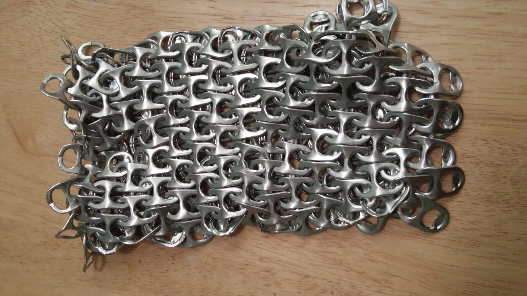 Soda Can Tab Chainmaille Gauntlet