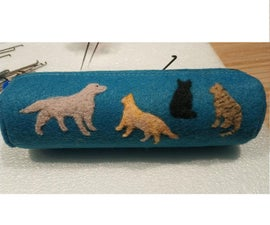 Hand Felted Pencil Case