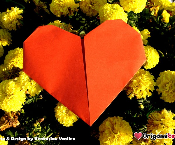 Printing Paper Origami Heart