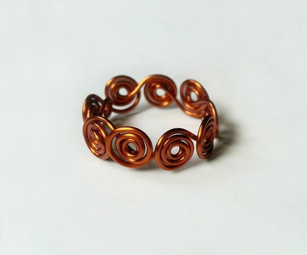 DIY Swirl Wrapped Wire Ring