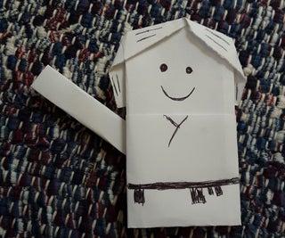 Paper Origami Luke Skywalker With Lightsaber