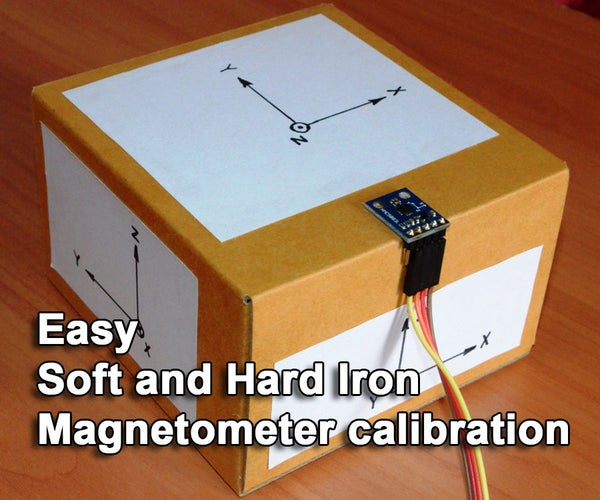 Easy Hard and Soft Iron Magnetometer Calibration