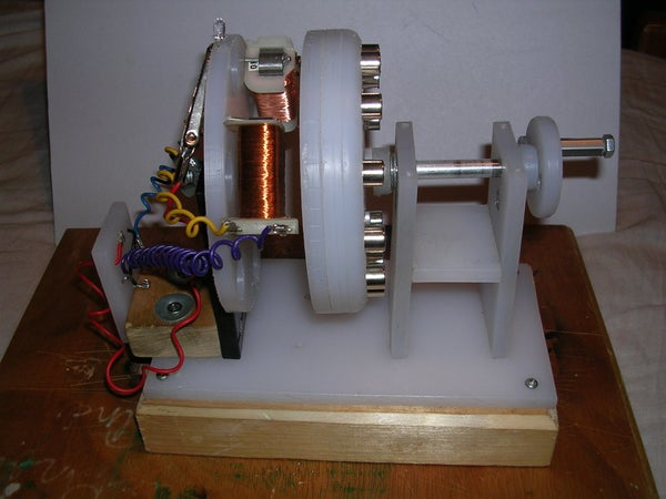 Model Generator Test Rig.  Experiments on Home Made Power.