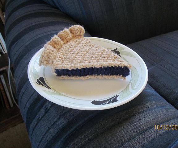 Crocheted Pie Slice