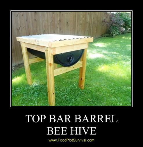 55 Gallon Top Bar Barrel Bee Hive