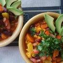 Cauliflower and Yam Chili (Vegan)