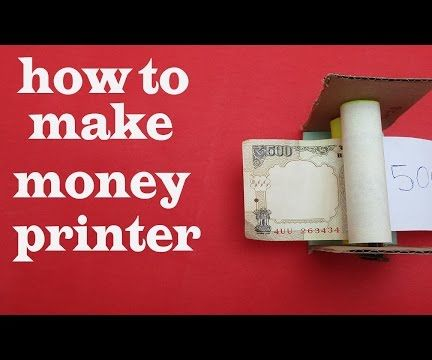 How to make money printer (simple magic trick)