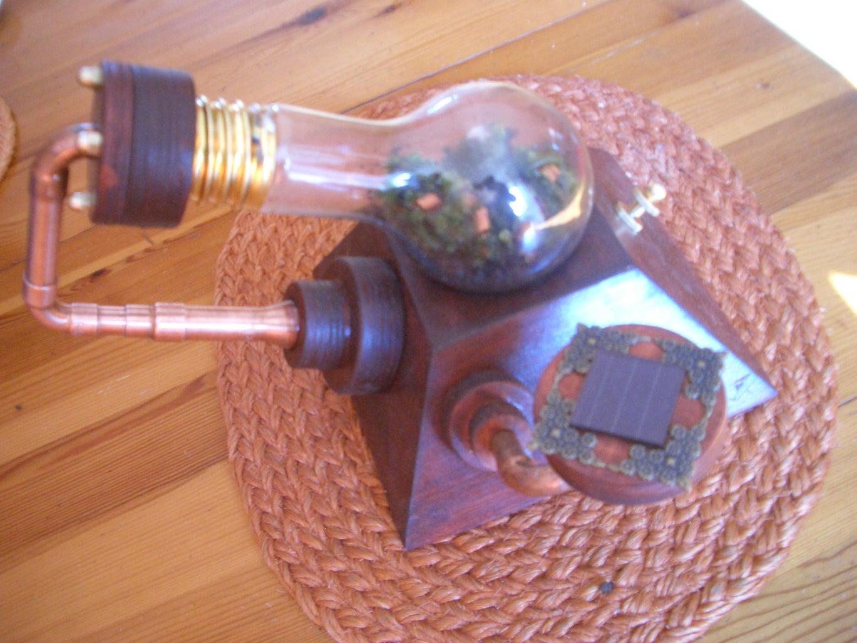 """The Steampunk Garden"" in a Bulb"
