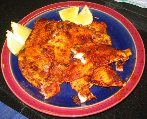 Spicy Blackened Flounder