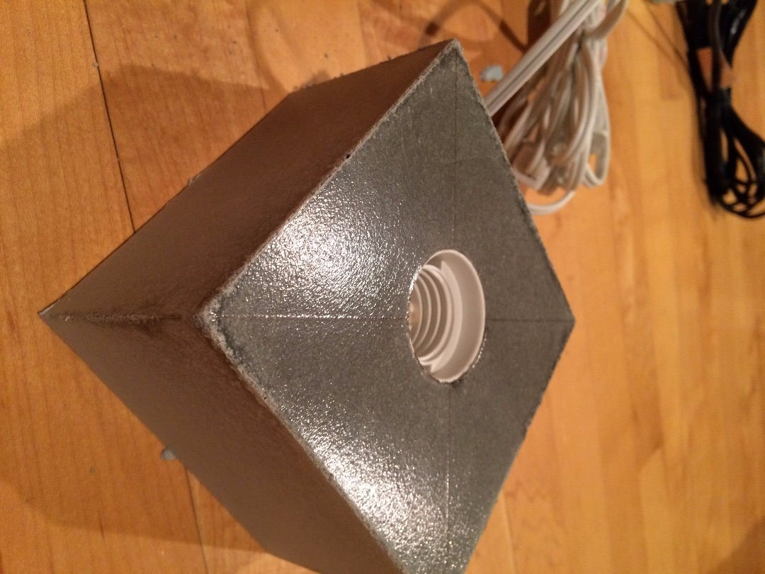 Demold Lamp Base and Add Felt Pad