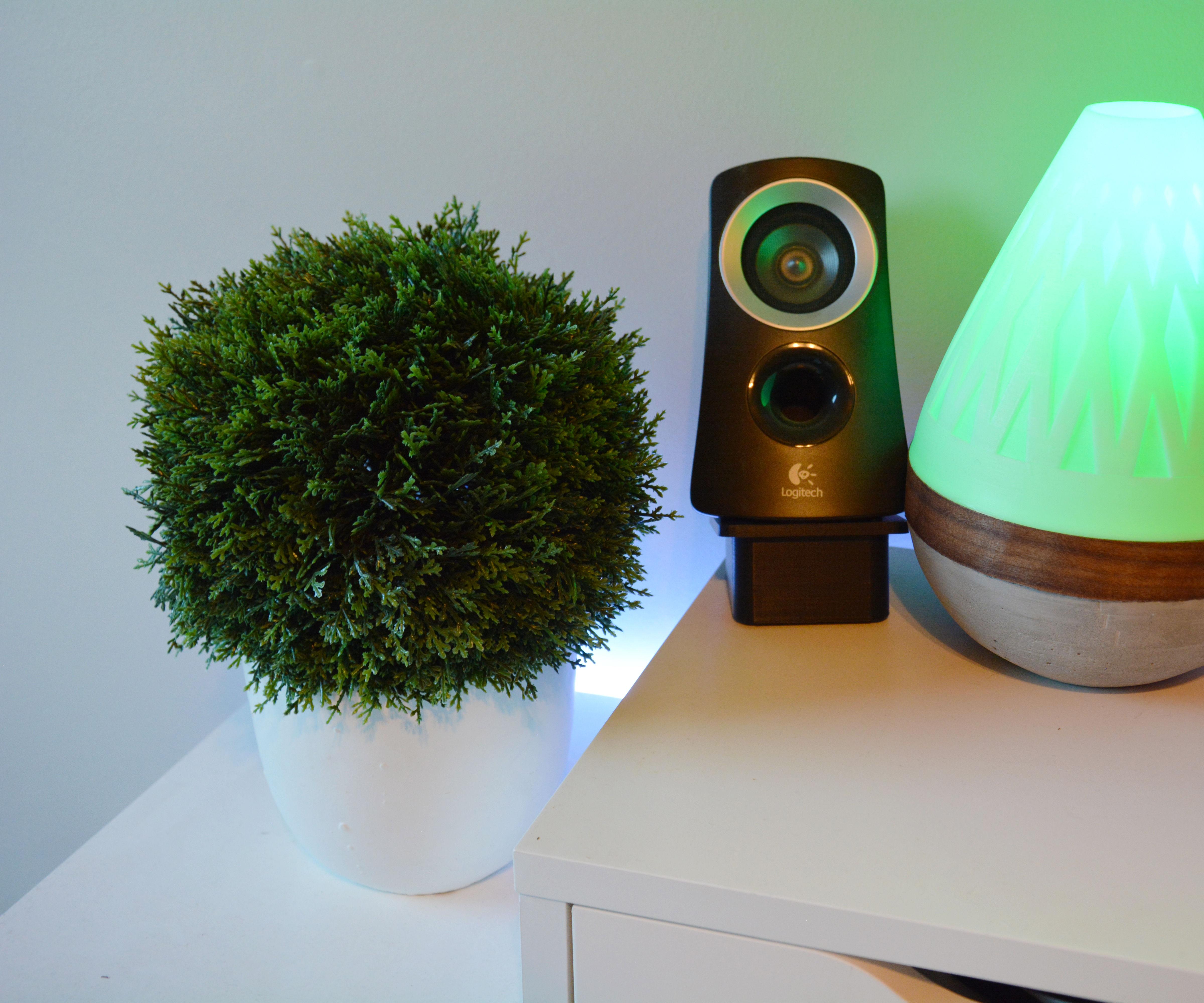 Teardrop Lamp (3D Printed + Concrete + Wood Veneer)