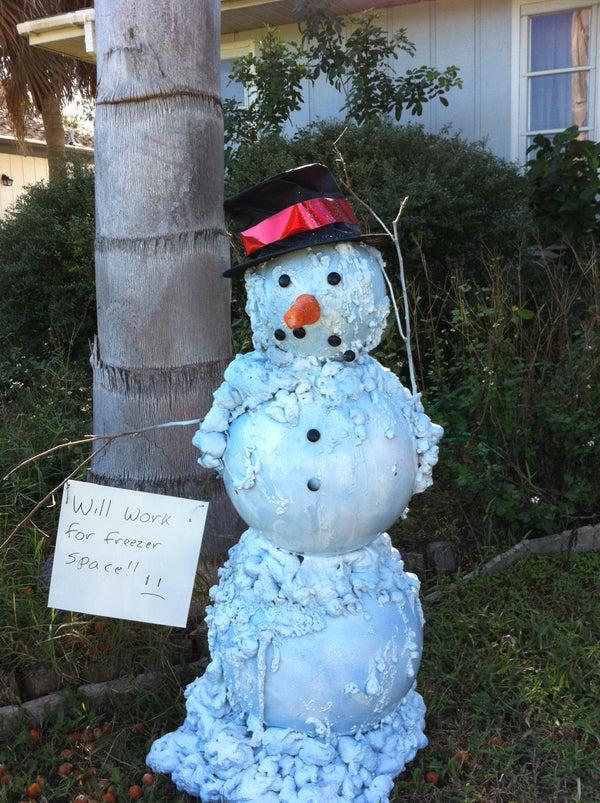 Melting (Florida) Snowman Christmas/Holiday Decoration