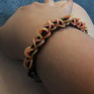 Geometry Dash Rainbow Loom Bracelet