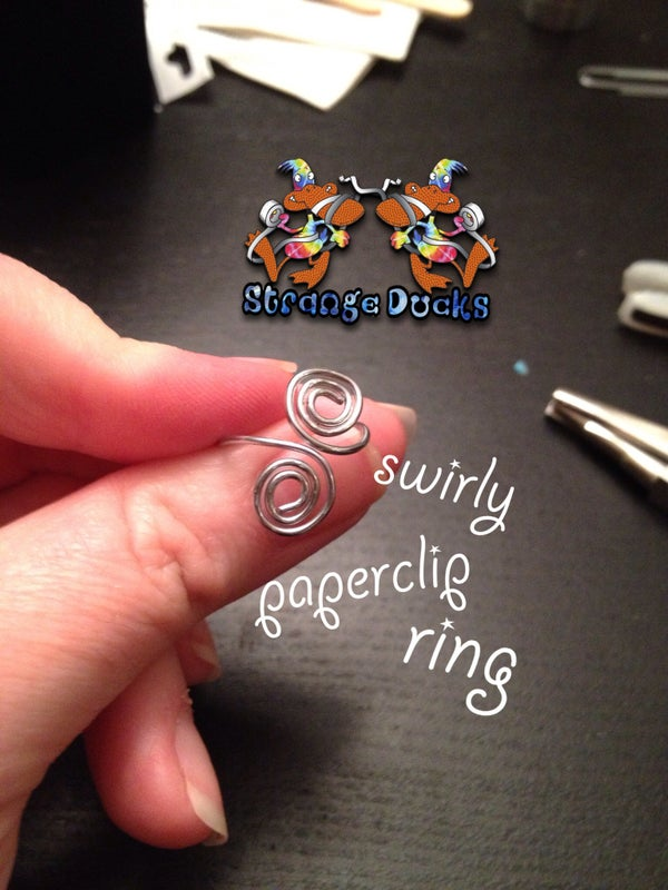 Swirly Paperclip Ring