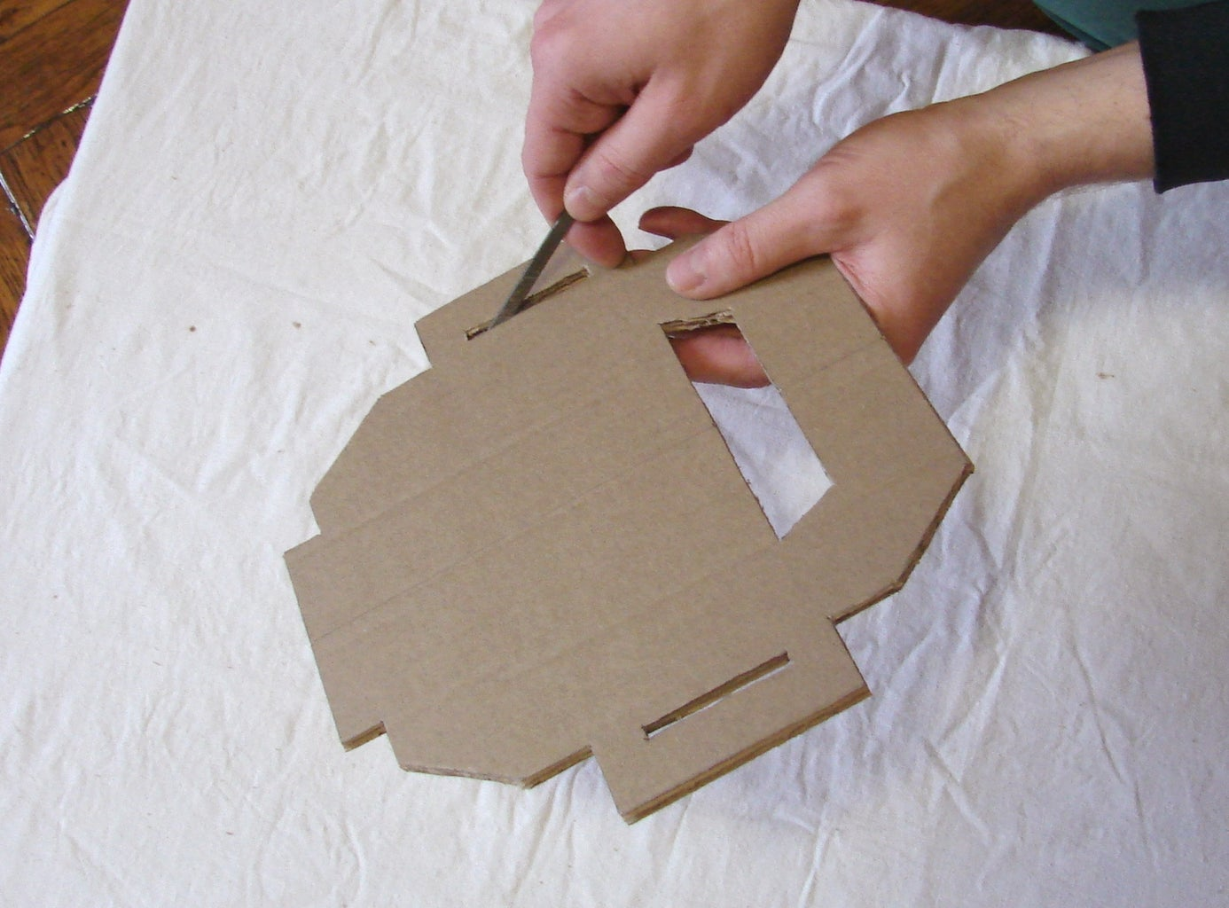 Cut Parts Out of Cardboard