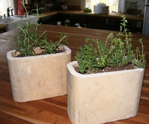 Recycled Chimney Tile Flower Pots