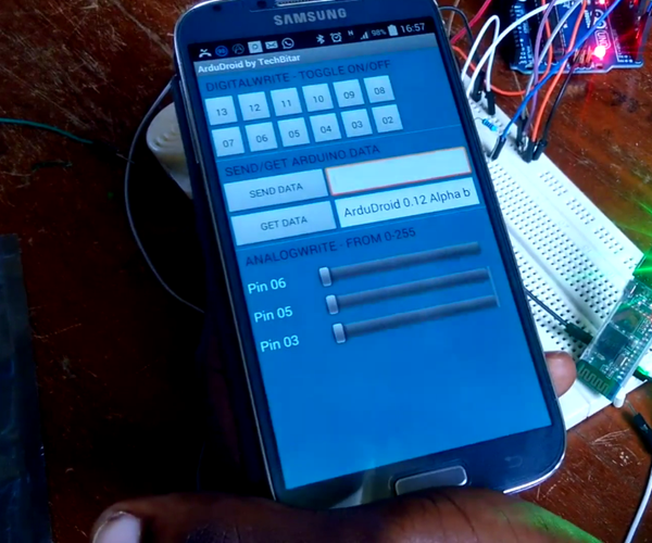 'DIY' Using the Arduino Uno and HC-05 Bluetooth Module With ArduDroid App