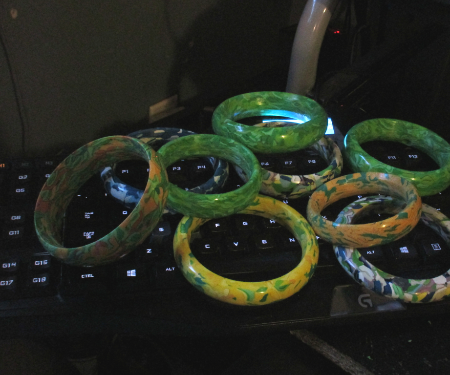 Making Bracelets From Recycled HDPE Plastic