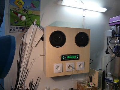 Music Box From Car Radio + Wall Mounted Sockets