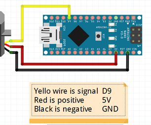 Sweep Servo Motor With Arduino Nano