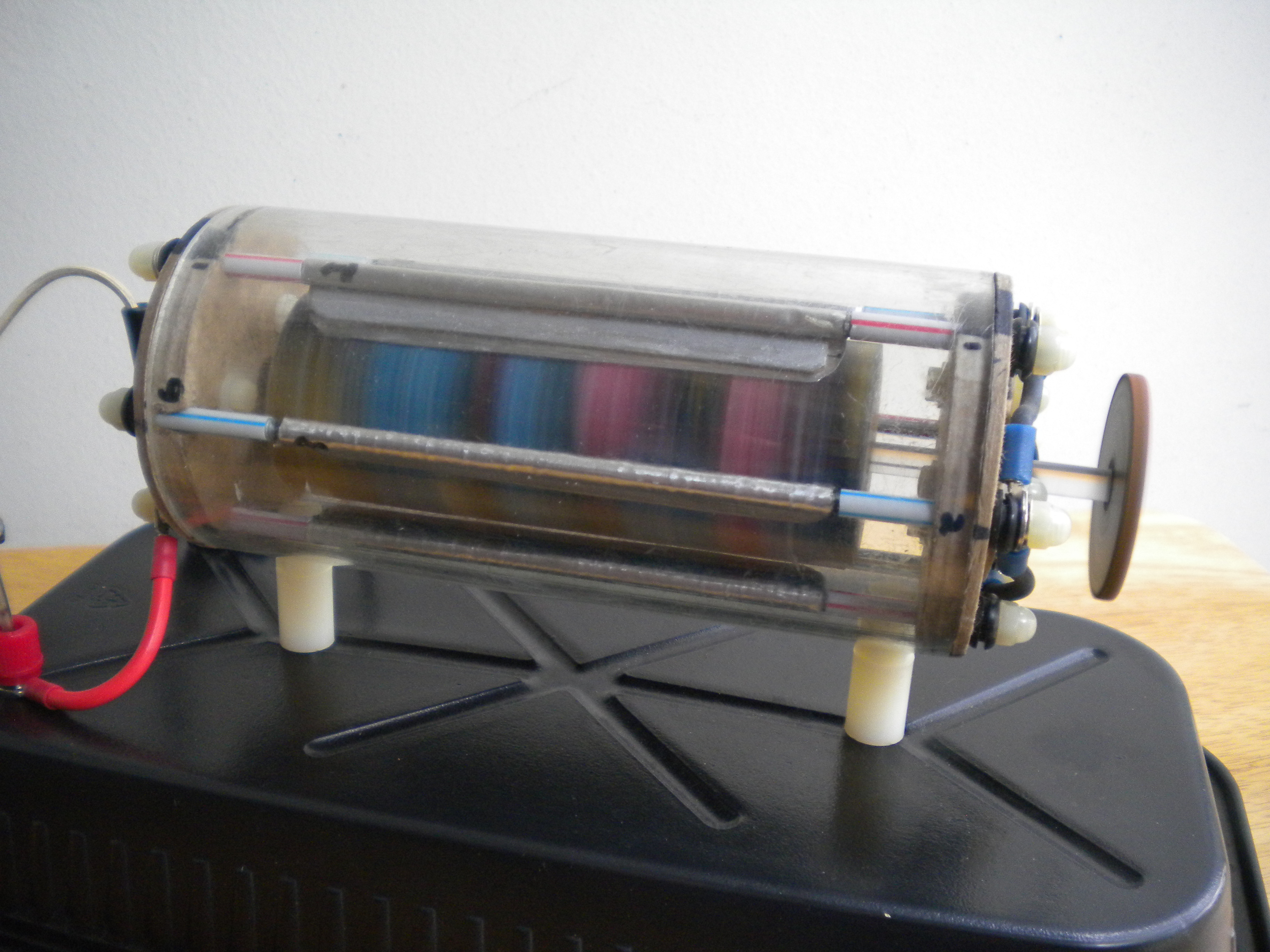 Improved Electrostatic Turbine Made from Recyclables