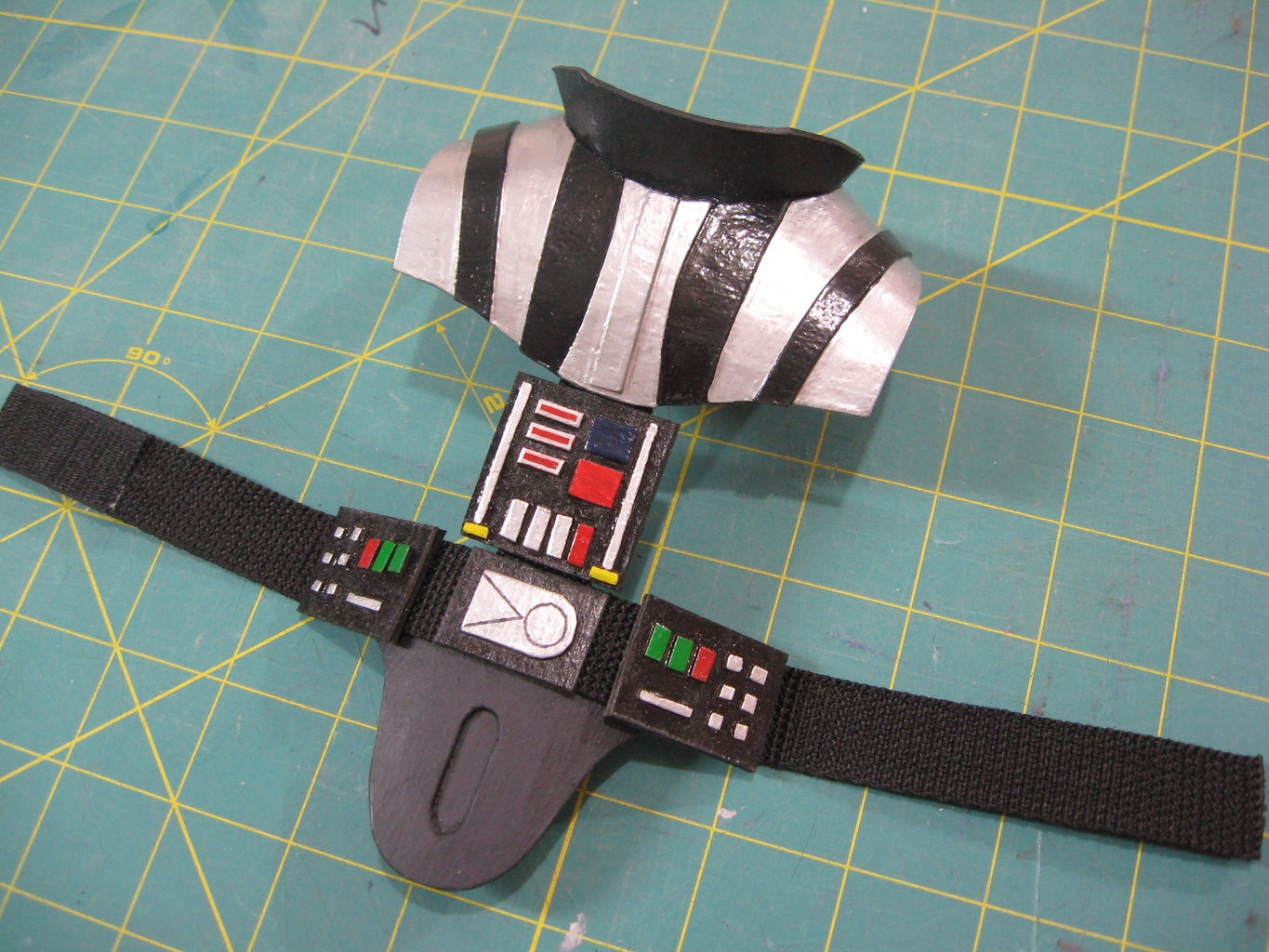 Vader's Belt and Shoulder Pieces, and Face