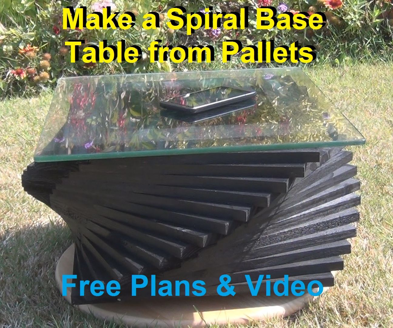 Spiral Table From Pallets