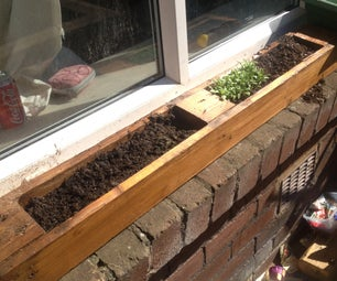 Window Planter Made From Old Pallet. Window Sill Herb Garden