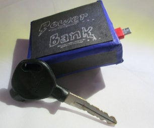 KEY SIZE POWER BANK MADE BY OLD MOBILE BATTERY