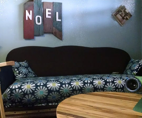 Reupholster a Sofa With No Sewing or Electricity
