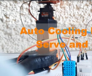 Auto Cooling Fan Using Servo and DHT11 Temperature and Humidity Sensor With Arduino