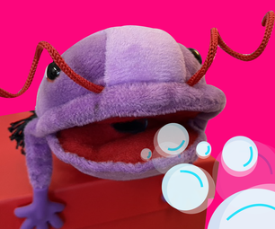 Animatronic Bubble Blowing Robot - Blows Real Bubbles!