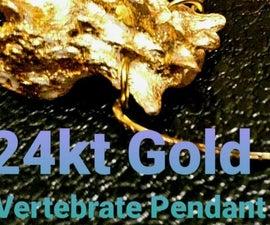 24kt Gold Vertebrate Pendant