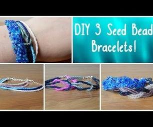 3 Seed Bead Bracelets!